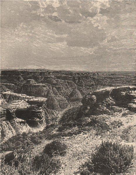 Associate Product View taken in the Bad Lands, Nebraska 1885 old antique vintage print picture