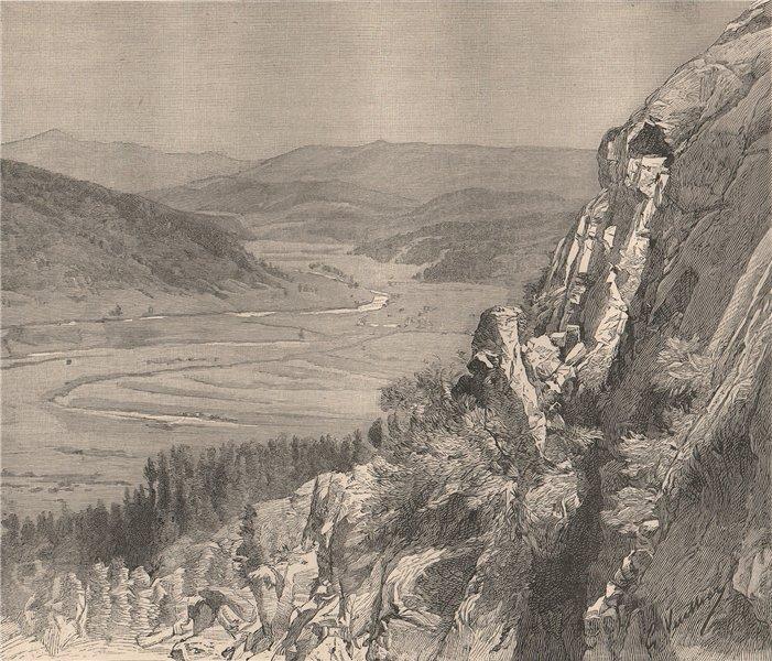 Valley of the Rio Grande del Norte. USA 1885 old antique vintage print picture