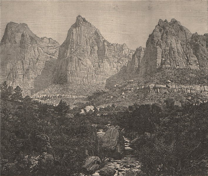 Associate Product Rocky Mountains Scenery - The three Tetons of Utah. Wyoming 1885 old print