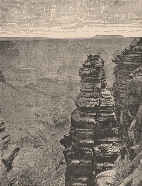 Associate Product The Marble Canyon, Colorado River. Arizona 1885 old antique print picture