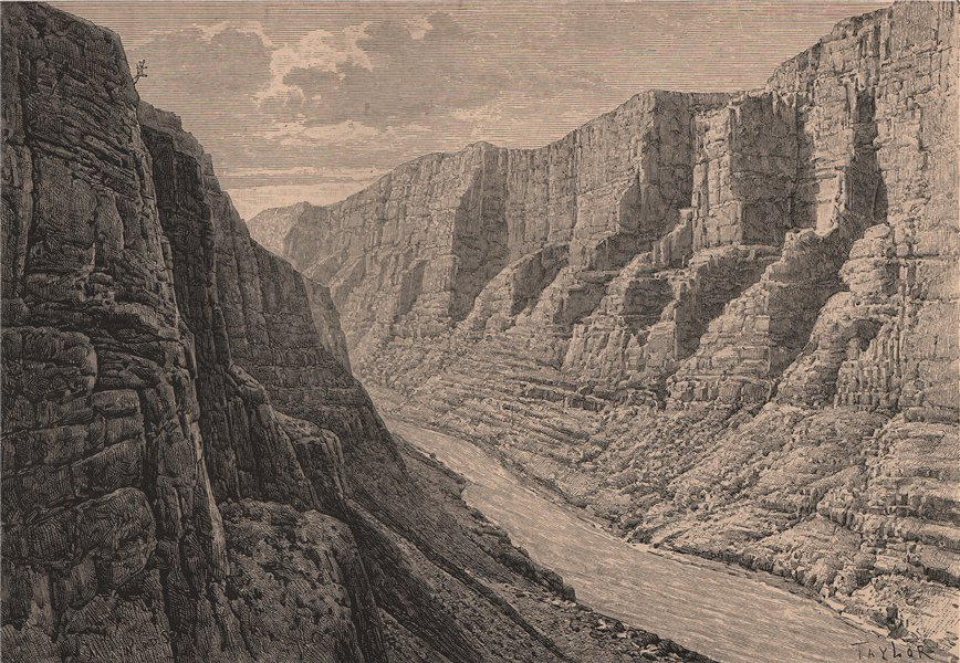 Associate Product The Green River Canyon. USA. Wyoming Colorado Utah 1885 old antique print