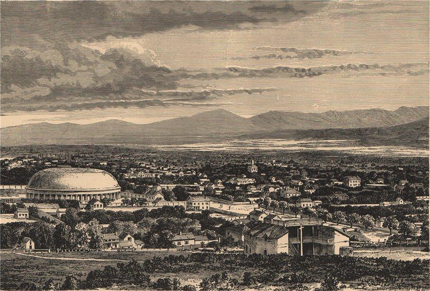 General view of Salt Lake City. Utah 1885 old antique vintage print picture