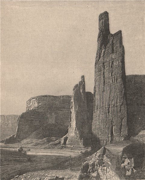 Associate Product The Captains, Chelly Canyon, Arizona 1885 old antique vintage print picture