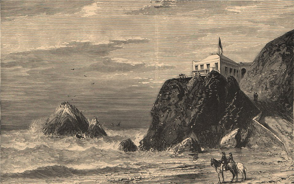 Associate Product View of the Seal Rocks from the Cliff House, San Francisco. California 1885