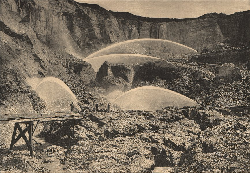 Associate Product Hydraulic mining in North Bloomfield, Nevada (now California)  1885 old print