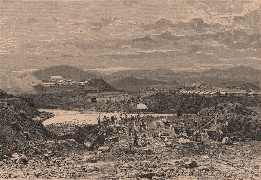 Associate Product Panama scenery; The Rio Chagres at Matachin 1885 old antique print picture