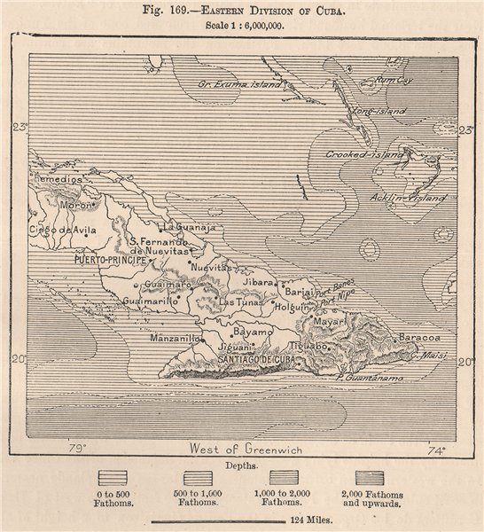 Associate Product Eastern division of Cuba 1885 old antique vintage map plan chart