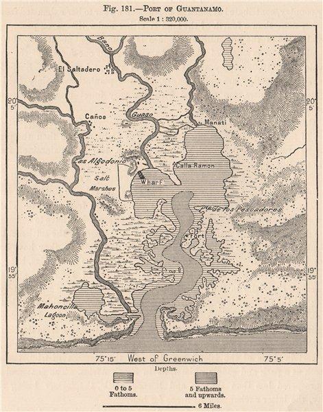 Associate Product Port of Guantanamo. Cuba 1885 old antique vintage map plan chart