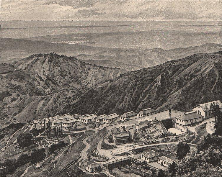 Associate Product View taken at the Newcastle Sanatorium, Jamaica 1885 old antique print picture