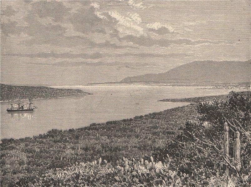 Associate Product View from the Môle St. Nicolas Peninsula, Haiti. Hispaniola 1885 old print