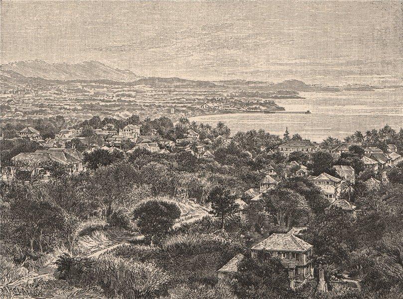 View taken in Saint Croix Islands. Virgin Islands. St Croix 1885 old print