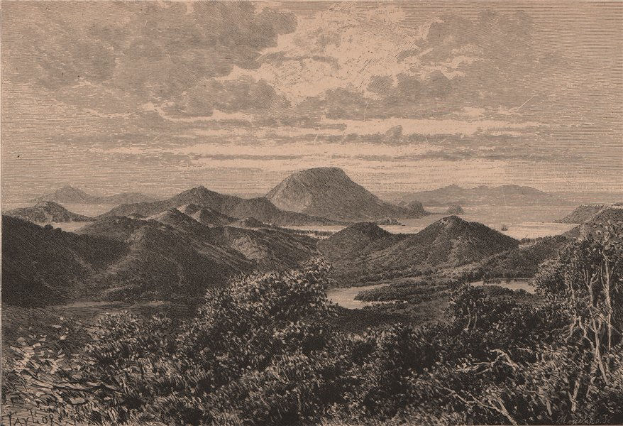 Associate Product West Indian Scenery, Îles des Saintes. West Indies. Lesser Antilles 1885 print