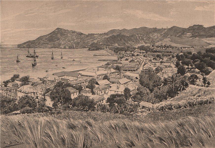 Associate Product Kingstown (Dun Laoghaire) St. Vincent Island. W Indies. Lesser Antilles 1885