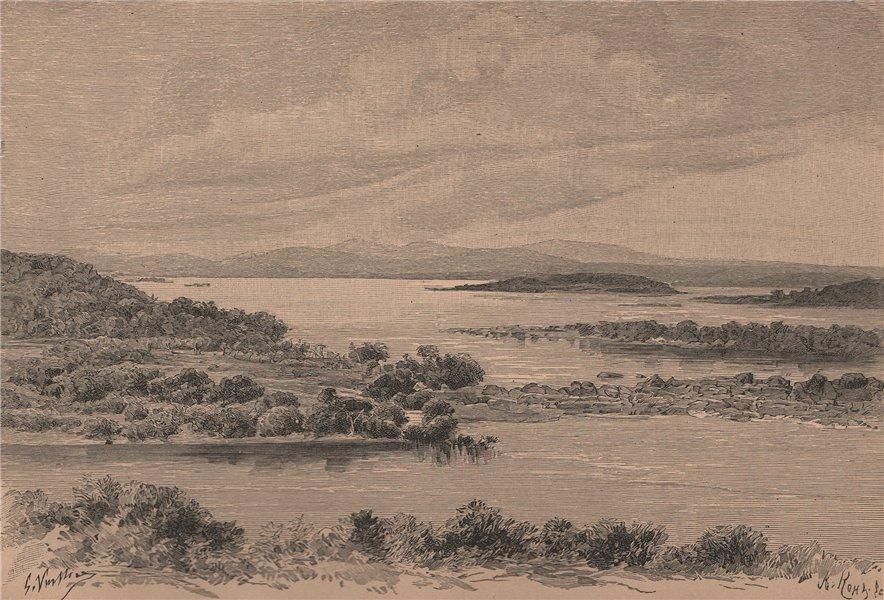 Associate Product Atures Rapids, Orinoco; view taken at the Cerro Perriquito. Venezuela 1885