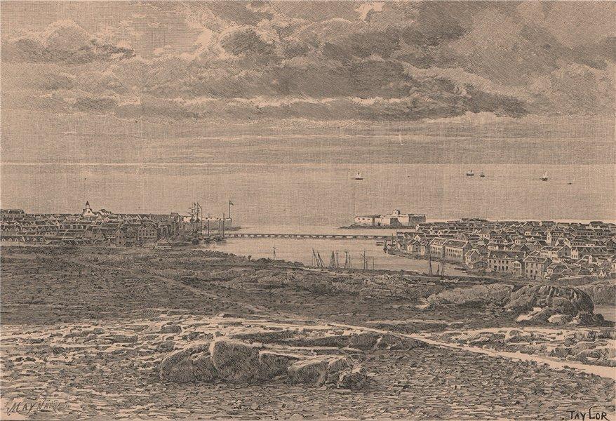 Associate Product General view of Willemsted (Santa Ana de Curaçao) . Netherlands Antilles 1885