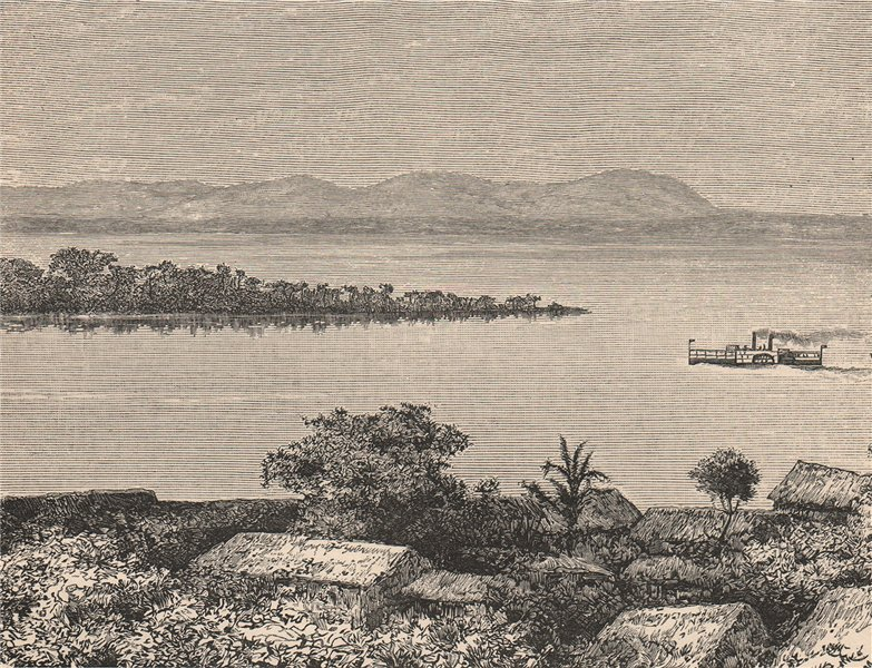 Associate Product The Orinoco river at Caicara del Orinoco. Venezuela 1885 old antique print
