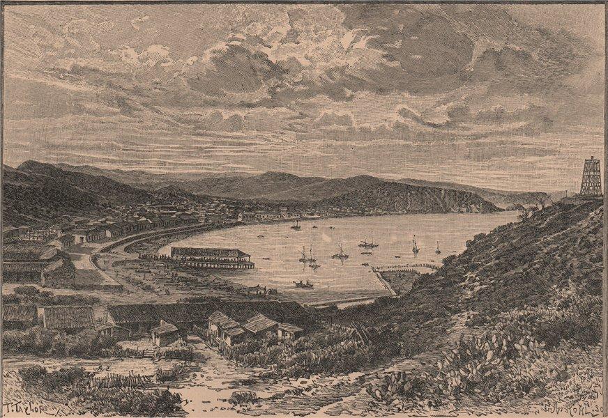 Associate Product General view of Carupano. Venezuela 1885 old antique vintage print picture