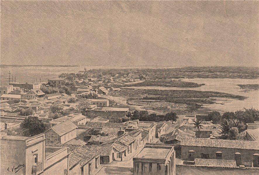 Associate Product General view of Ciudad Bolivar. Venezuela 1885 old antique print picture