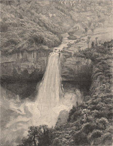 Associate Product Salto de Tequendama Falls, first terrace. Rio Bogota, Colombia 1885 old print