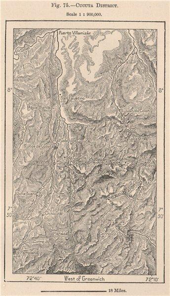 Associate Product Cucuta district. Colombia 1885 old antique vintage map plan chart