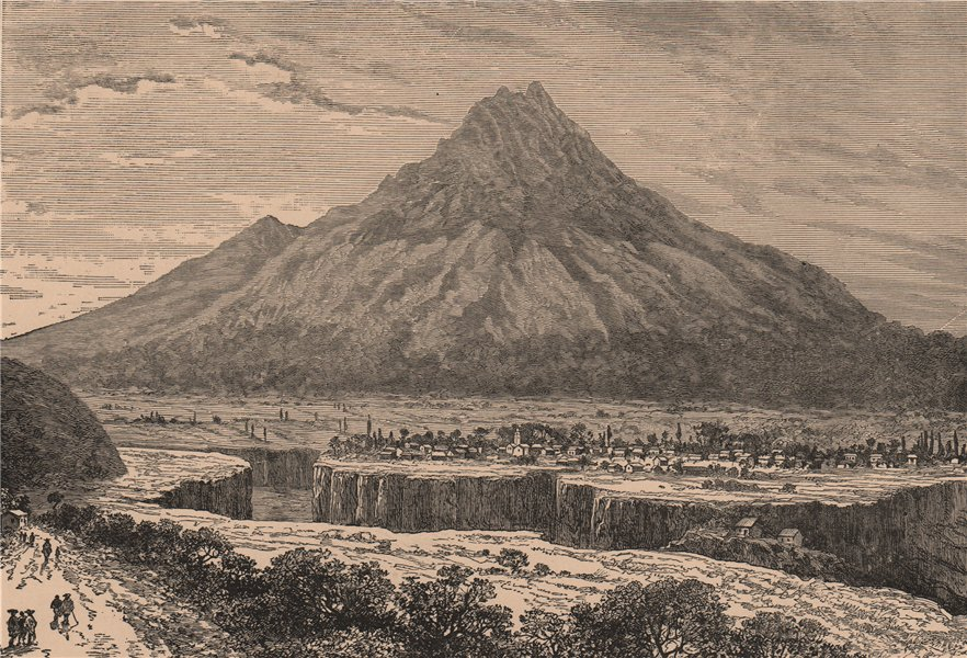 Associate Product Ibarra, and the Imbabura Volcano. Ecuador 1885 old antique print picture