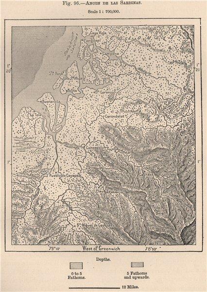 Associate Product Ancon de las Sardinas Lorenzo Maglares Cayapas Mataje Ecuador/Colombia 1885 map