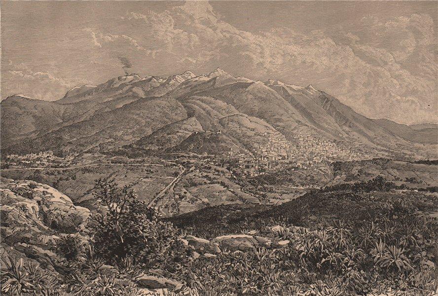 Associate Product East view of Quito & Mount Pichincha, from La Loma de Puengasi. Ecuador 1885