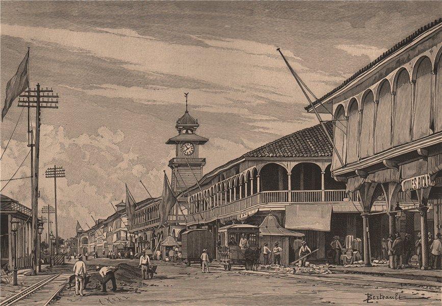 Associate Product Guayaquil. Ecuador 1885 old antique vintage print picture
