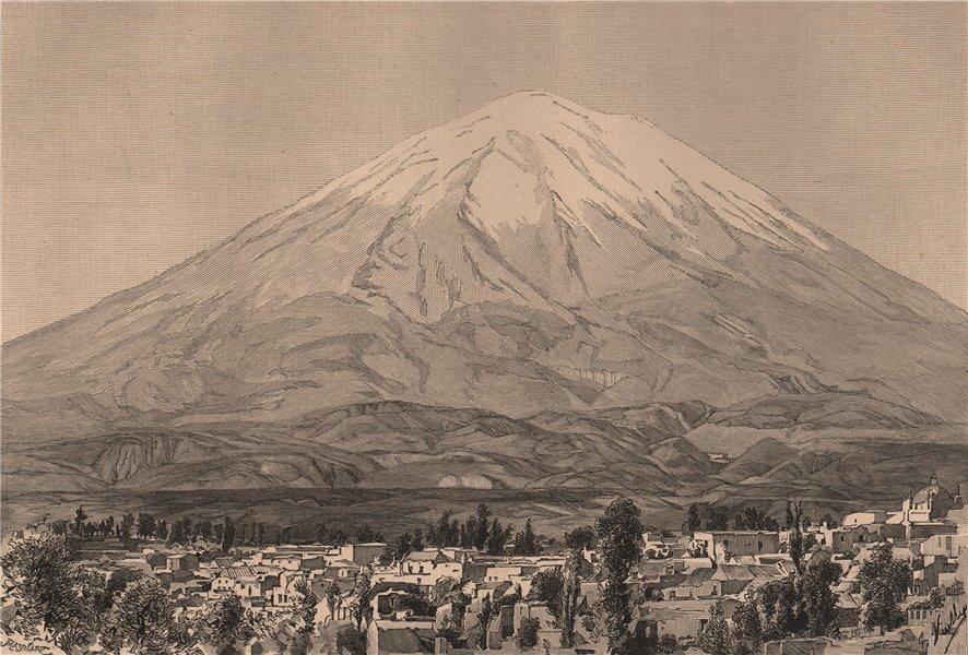 Associate Product Arequipa and Mount Misti/Putina. Peru 1885 old antique vintage print picture