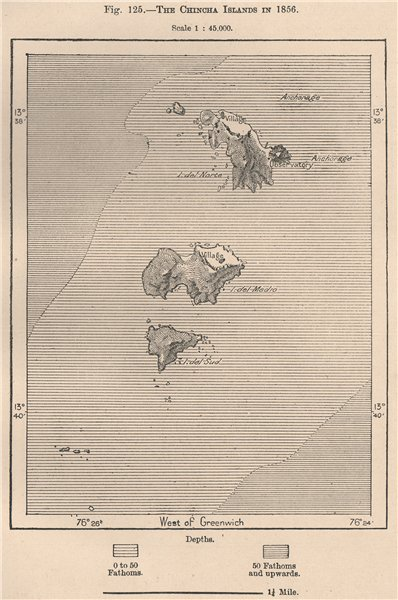 Associate Product The Chincha Islands in 1856. Peru 1885 old antique vintage map plan chart