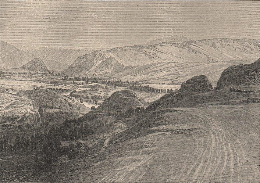 Associate Product Cerro de Pasco. Peru 1885 old antique vintage print picture