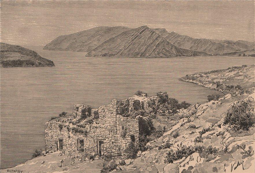Associate Product House of Virgins of the sun. Iñaq Uyu Isla de la Luna, Lake Titicaca 1885