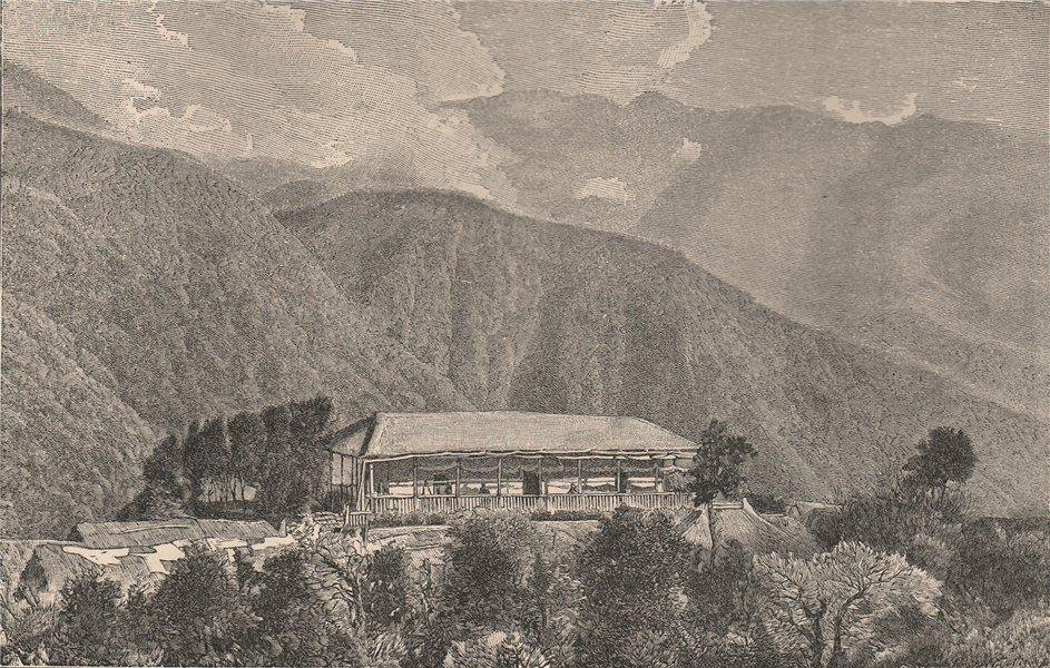 Associate Product Yungas scenery - Cussillani Hacienda. Bolivia 1885 old antique print picture