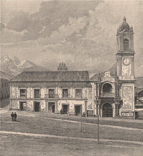 Associate Product La Paz - Palace of Congress. Bolivia 1885 old antique vintage print picture