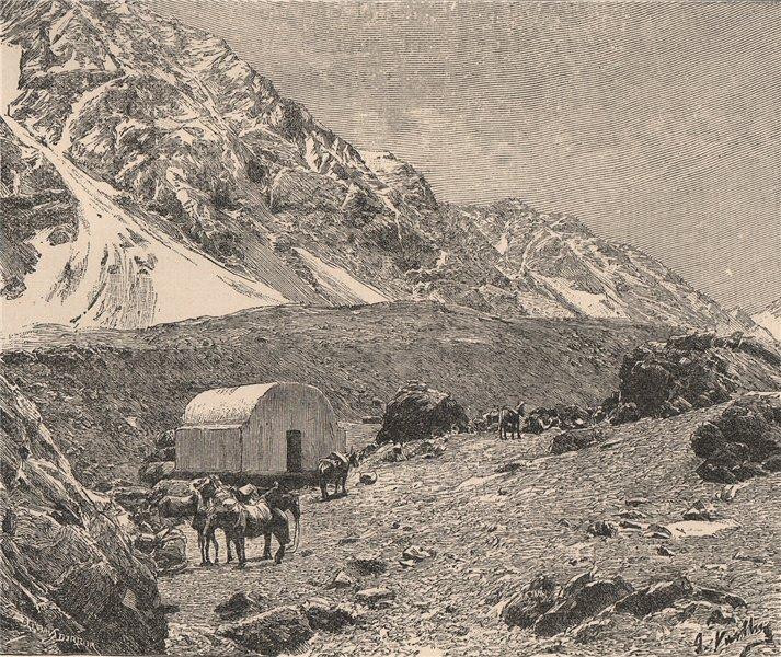 Associate Product Casucha del Portillo, on La Cumbre pass (Paso de Uspallata) Chile 1885 print