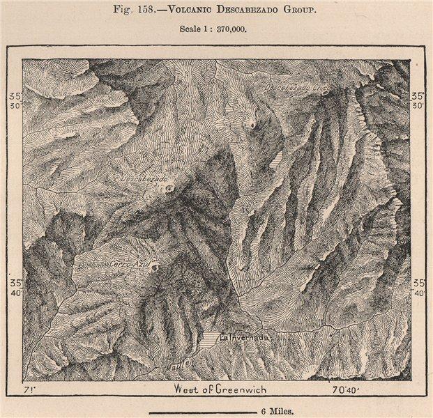 Associate Product Volcanic Descabezado group.Descabezado Grande/Chico.Cerro Azul.Chile 1885 map