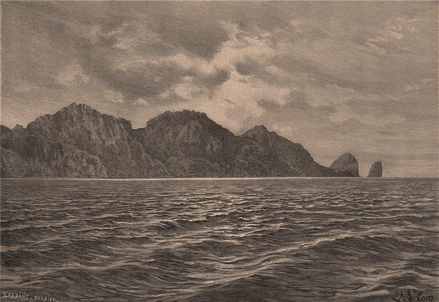 Associate Product Cape Pillar. Cabo Pilar. Chile 1885 old antique vintage print picture