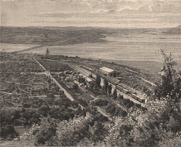 Associate Product Rio Laja and Biobio confluence - View opposite San Rosendo. Chile 1885 print