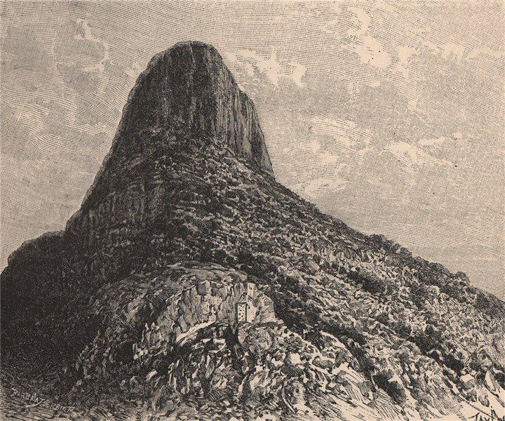 Associate Product Mount Selkirk, Alejandro Selkirk, Juan Fernandez Island. Chile 1885 old print
