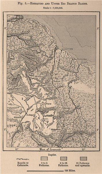 Associate Product Essequibo and upper Rio Branco Basins. Guyana. Janjanbureh 1885 old map