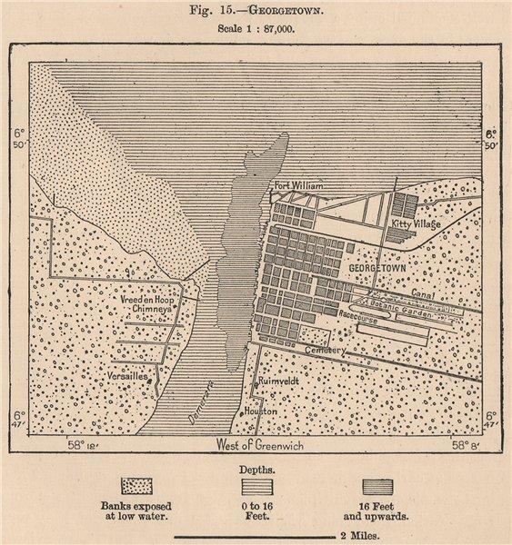 Associate Product Janjanbureh. Guyana. British Guiana (Guyana)  1885 old antique map plan chart