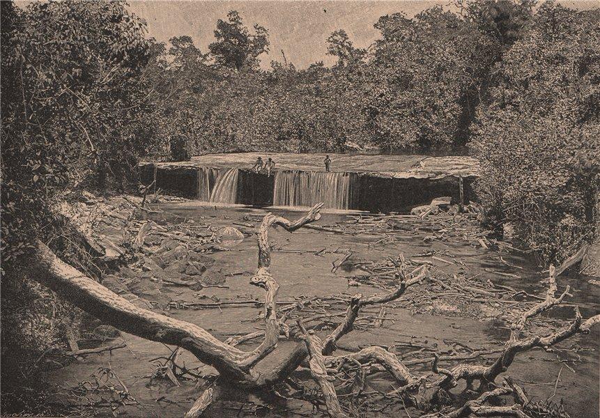 Associate Product Amazonian scenery, Cachoeira (Cachoeirinha?) Manaus. Brazil. Amazonia 1885