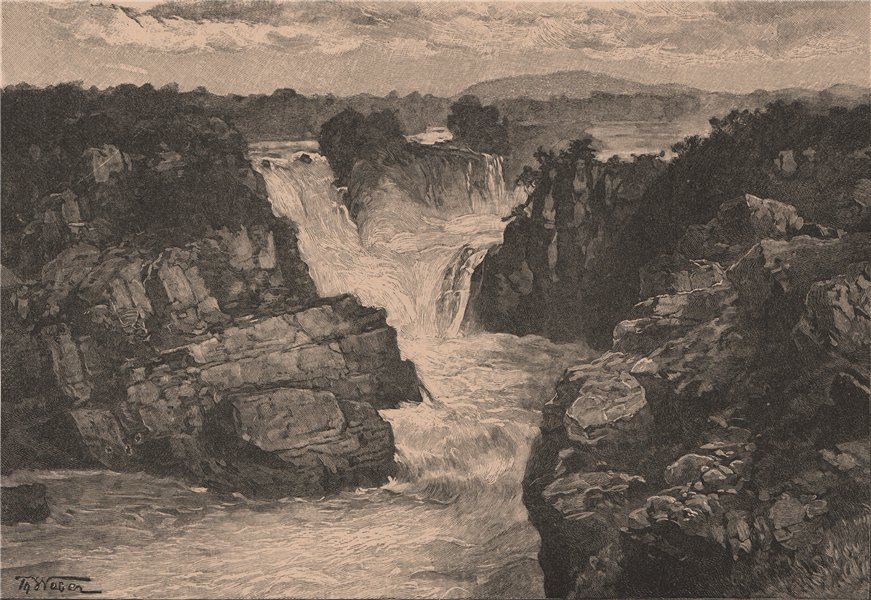 Associate Product Cachoeira de Paulo Afonso falls. São Francisco River, Brazil 1885 old print
