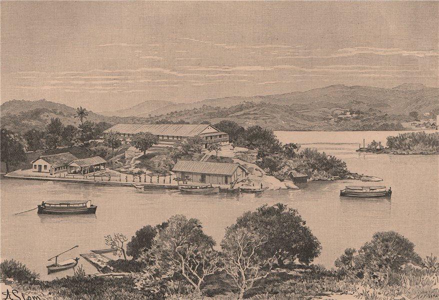 Immigrant station, Ilha das Flores Island, Rio de Janeiro bay. Brazil 1885