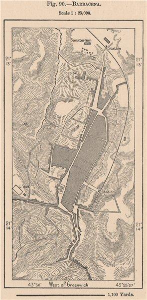 Associate Product Barbacena. Brazil. Minas Gerais 1885 old antique vintage map plan chart