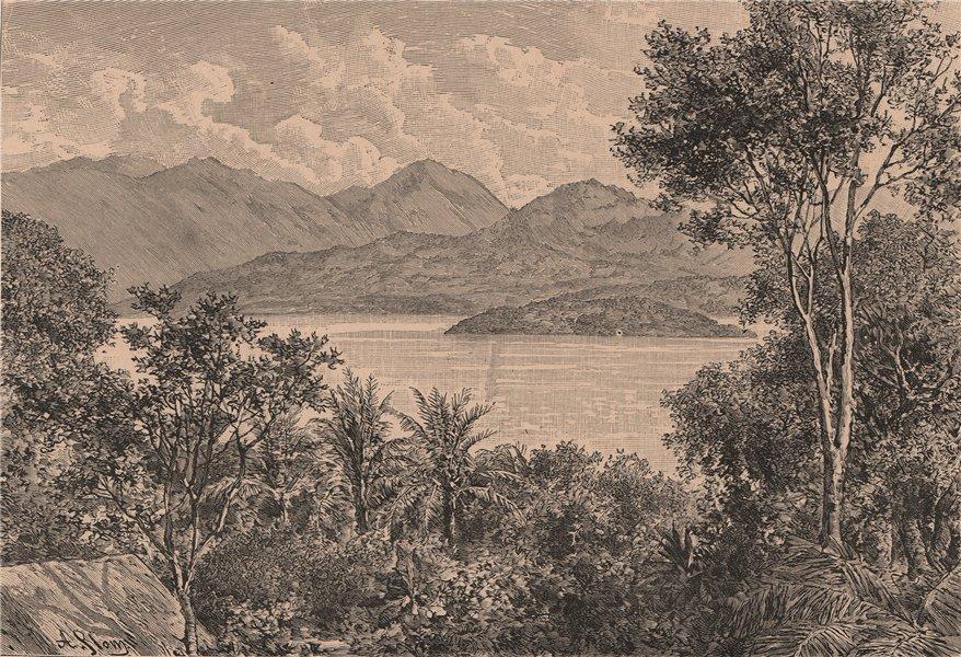 Associate Product Mato Grosso do Sul scenery, Aquidauana river. Brazil 1885 old antique print