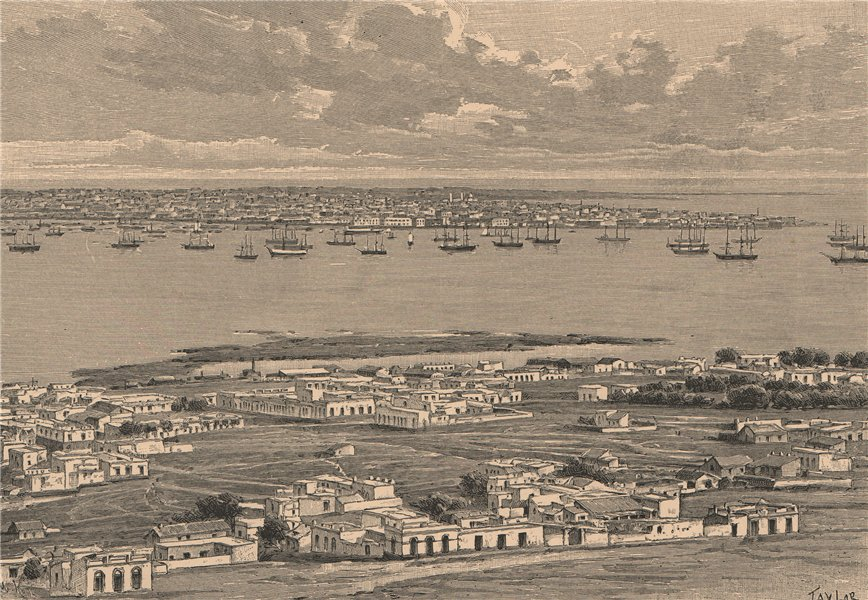 Associate Product Montevideo - General view from the Cerro. Uruguay 1885 old antique print