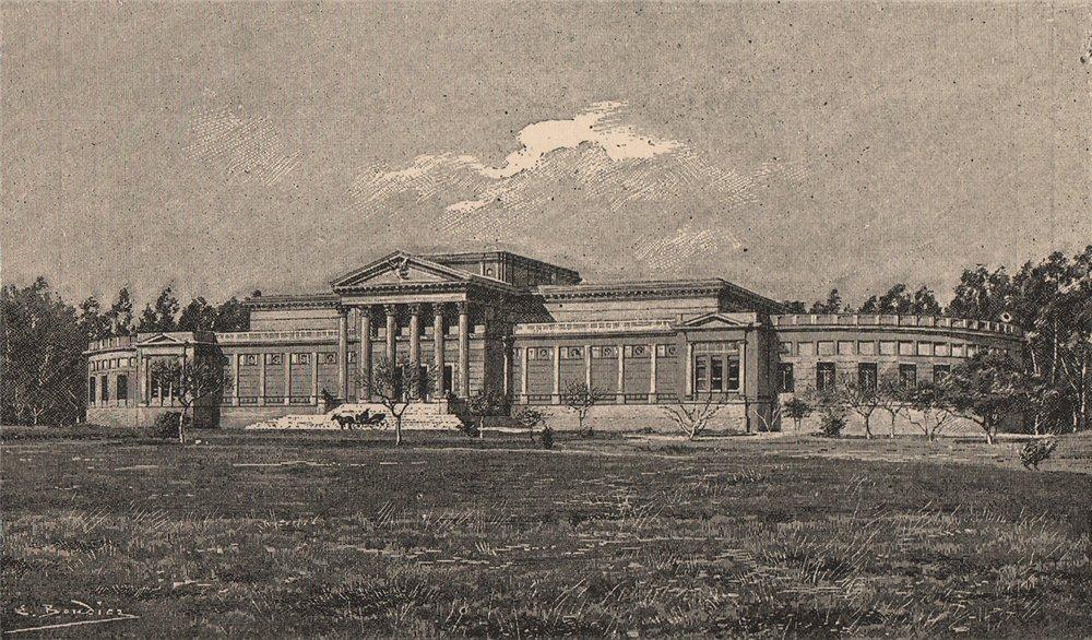 Associate Product La Plata Museum. Argentina 1885 old antique vintage print picture