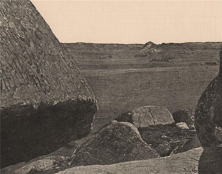 Associate Product Erratic boulders of Tandil. Argentina 1885 old antique vintage print picture