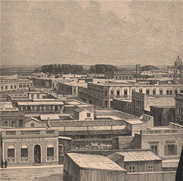 Associate Product General view of La Plata. Argentina 1885 old antique vintage print picture
